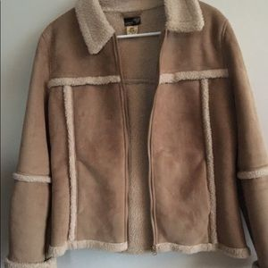 Buffalo suede/shearling Reversible jacket